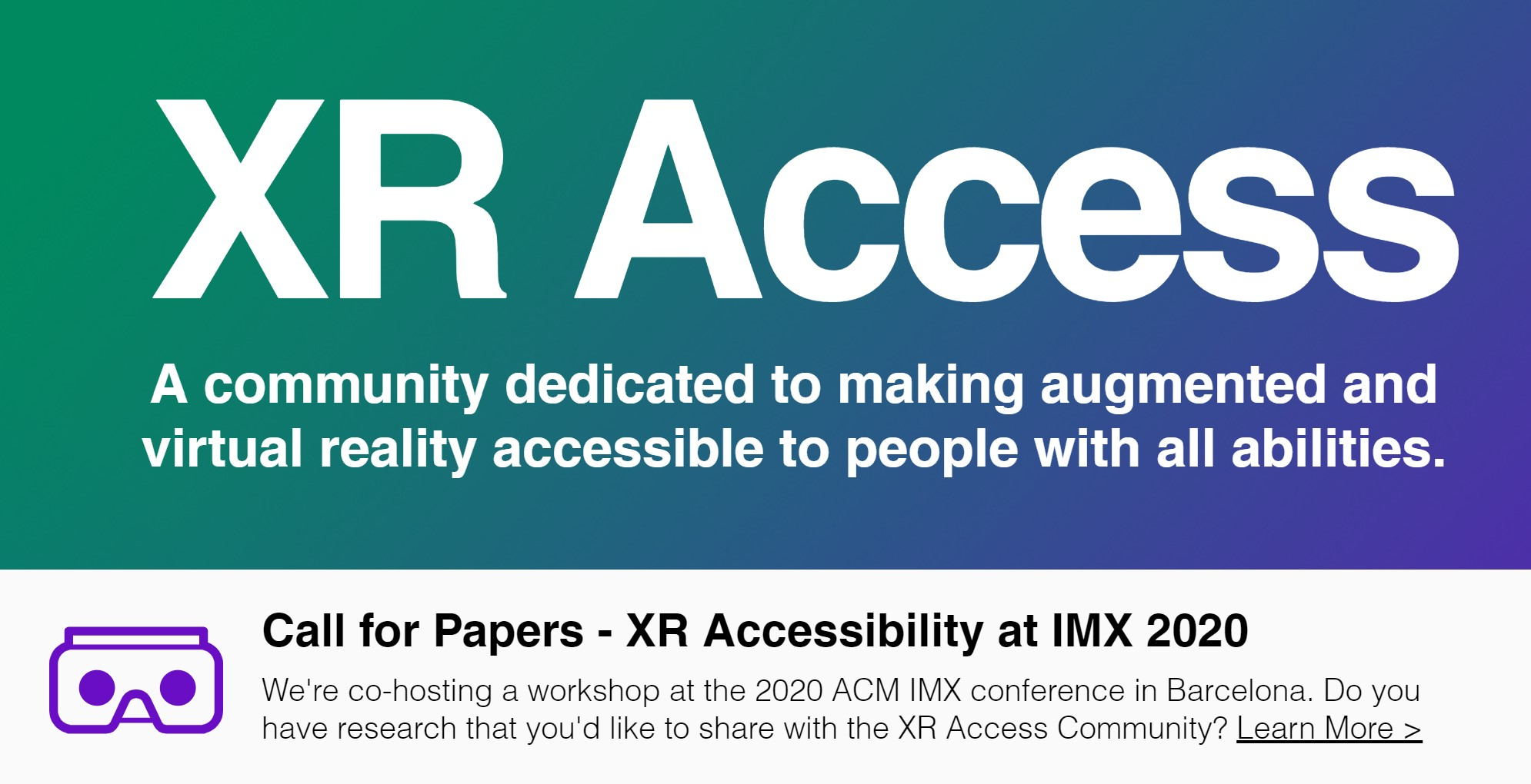 Let's Make XR Accessible