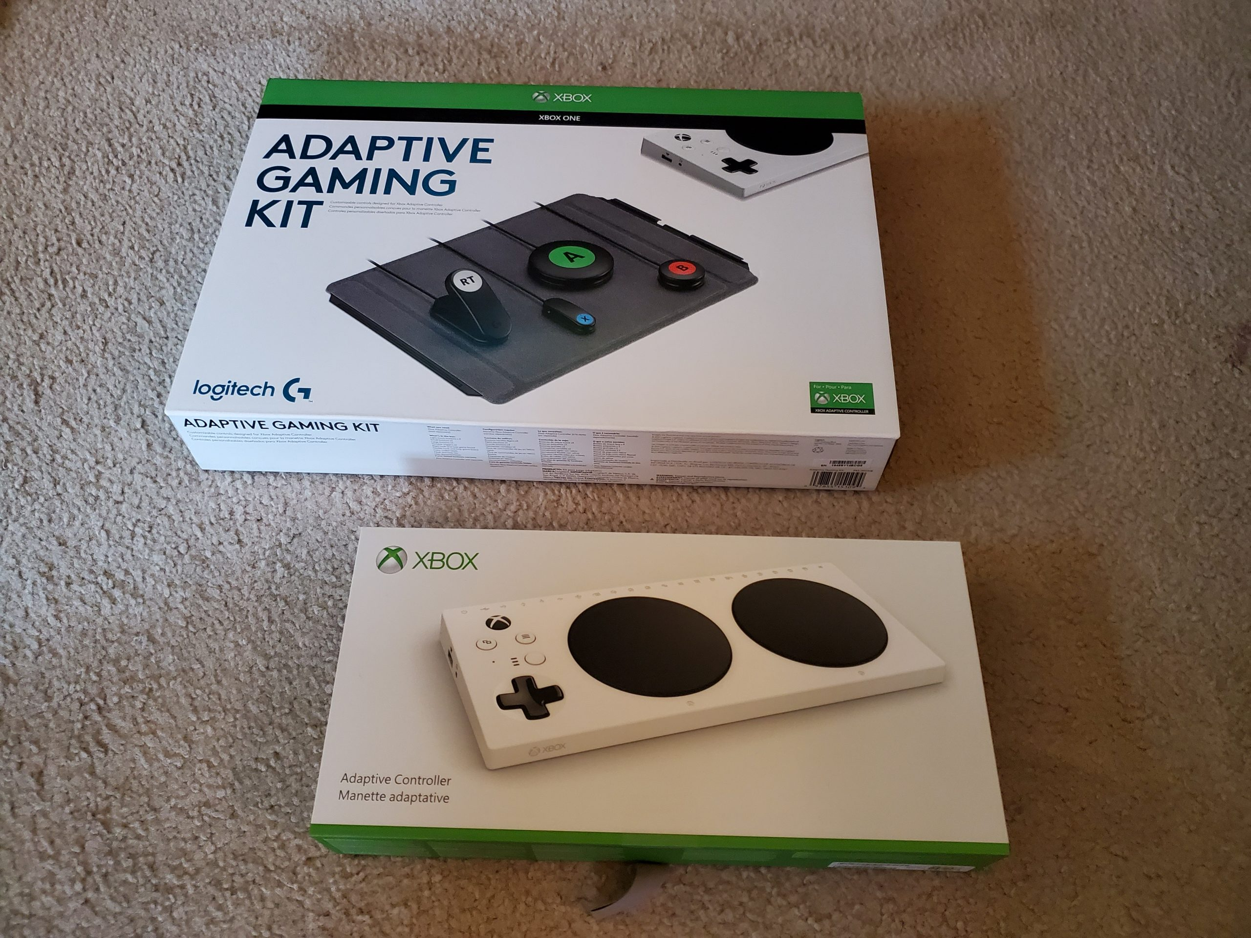 Xbox Adaptive Controller and Logitech kit
