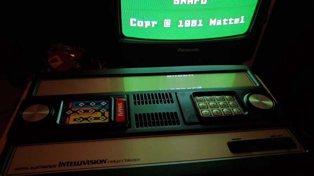 Intellivision console with SNAFU loaded