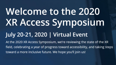 XR Access Symposium 2020